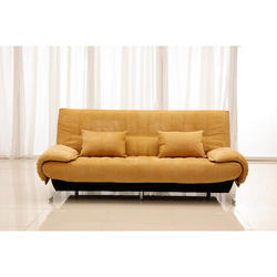Yellow 2 Seater Wooden Sofa