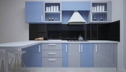 Modern Modular Kitchen, Work Provided: Wood Work & Furniture