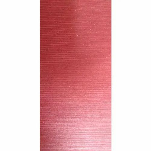 Non-Woven Plain Red Wallpaper