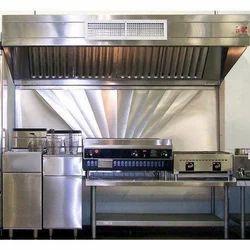 Polished Kitchen Exhaust Hood