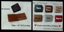 Simple Bi Fold PU Wallet, Coin Pocket And 3 Card Pocket