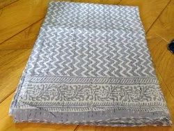 Hand Block Printed Quilted Bedspread