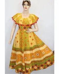 Ladies Rajasthani Printed Frock