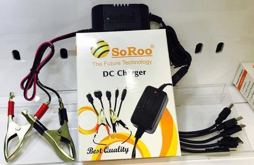 Black SOROO CAR CHARGER DC5IN1