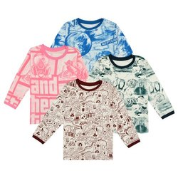 Full Sleeves Kids Printed T Shirt