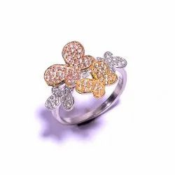 Beautiful Butterfly Ring Crafted In Sterling Silver