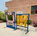 Alphabets counting boxes stand