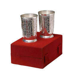 Silver Plated Two Glass Set