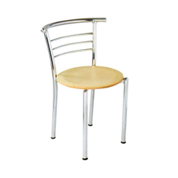 Uniesta Polished CC898 Stainless Steel Canteen Chair, For Cafe