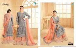Sarara Vol 12 By Your Choice Georgette Sharara Style Embroidery Salwar Kameez