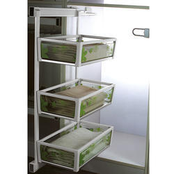 3 Shelf Lateral Glass Side Basket