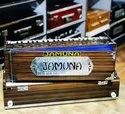 Jamuna Harmonium 2 Line Reeds Khardi Kangifor Professionals Portable, Number Of Stop Knobs: Without Stoppers, Weight: 12