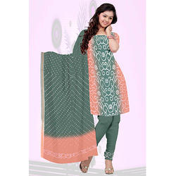 Sea Green Bandhani Suit