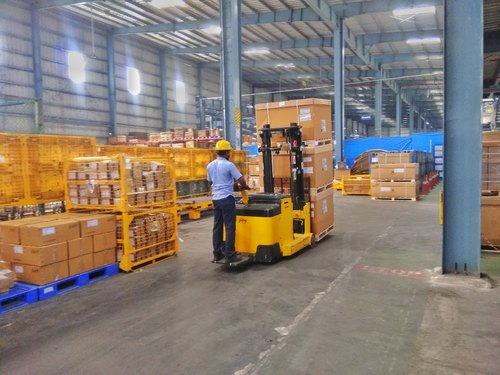 2 Ton Walk Behind Pallet Stacker Electric Forklift Price 1: Godrej 1.2 And 1.5 Ton Counter Balance Stacker