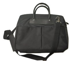Black Nylon-Leather Laptop Bag