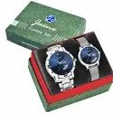 Jainx Blue Dial Day and Date Analog Couple Watch JC479