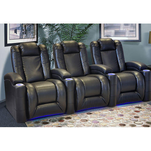 Recliners India Style 45002 Black Home Theater Recliners
