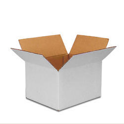 Plain White Corrugated Box