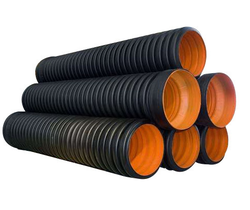 HDPE Black DWC Sewerage and Drainage Pipe 200 MM ID, For Construction