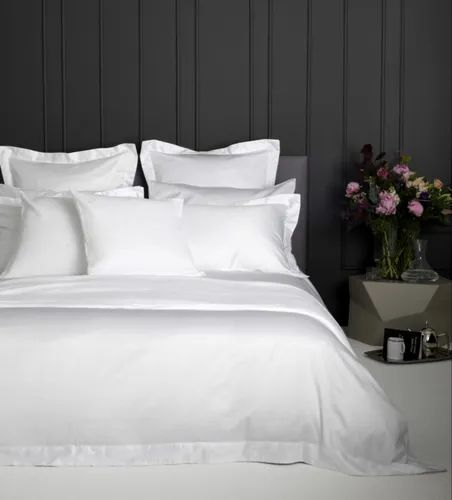 Hotel Bedsheet Set White in Satin Stripes, Percale and Wide Width Fabrics