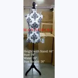 Female White Printed Display Dummy