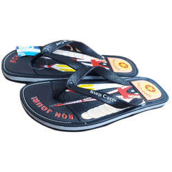 Rubber Printed Gents Slipper, Size: 6-10