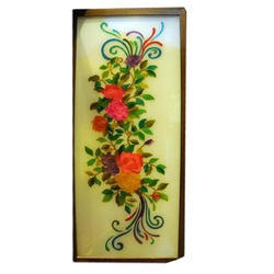 Floral Print Glass