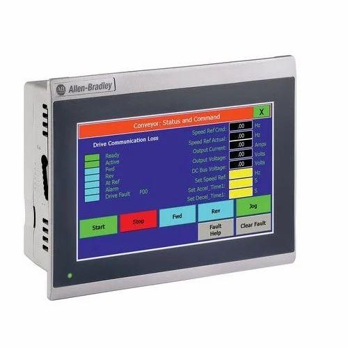 Allen Bradley 2711r T7t 7 Inch Human Machine Interface