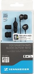 Sennhiser Black cx 275 s in-ear universal mobile headphone