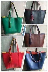 Be U Two Tone PU Tote Bag