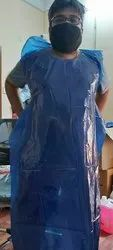 Blue Plain Plastic Apron, For Safety & Protection