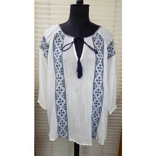 99767387e Cotton Long Printed Ladies Tops, Size: S, M, L & XL, Rs 1000 /piece ...
