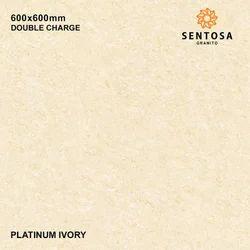 Porcelain Platinum Ivory Double Charge Vitrified Tiles, 8 - 10 Mm