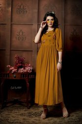 Sui Dhaga Party Wear Kurti For Womens
