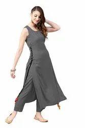 Heavy Rayon Plain Designer Ladies Kurta, Size M,L,XL,XXl