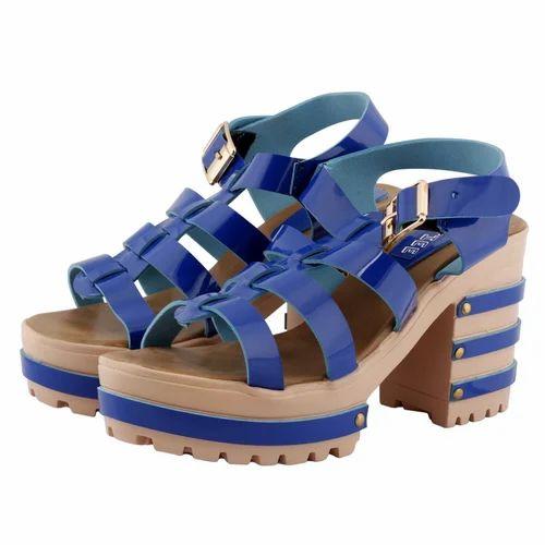 ecc11fa2a58f Blue Shofiee Women Stylish Heel-king Block Heel Party Wear   Casual Wedges