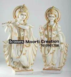 Marbke Radha Krishna Statue