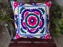 Vintage Suzani Embroidered Cushion Cover