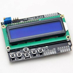 16x2 Arduino Blue Backlight LCD Keypad Shield, Model Name/Number: 2265