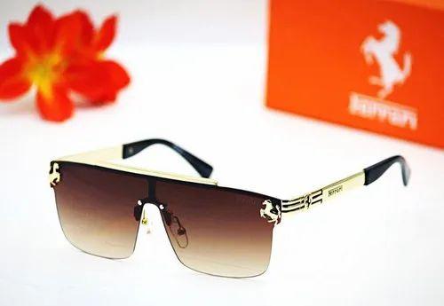 Round Golden Ferrari Double Ghoda Sunglasses Rs 299 Piece Helios Id 20555609391