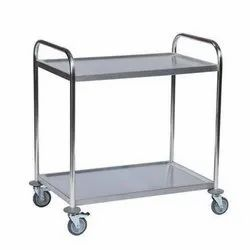 SS 2 Layer Bar Service Trolley Big