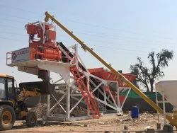 Compact Batching Plant With Twin Shaft Mixer