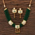 Brass Kundan Classic Necklace With Gold Plated 300519, Size: Regular