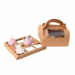 8 Cavity Dome Shape Cupcake Box with Window