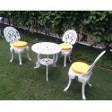 The Furnstore Color Coated Iron Garden Table Chair