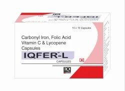 IQFER L Carbonyl Iron -Folic Acid-Vitamin C-Lycopene Capsule, Prescription, 10x10