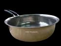 1 Pc Ss Wire With Plastic Fry Pan Brass, Round, Size: 18 Cm
