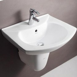 Wall Mounted Hindware Ceramic Wash Basin, for Bathroom