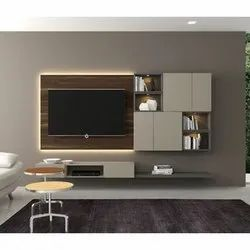 Wall Mounted Wooden Modular TV Unit, for Home