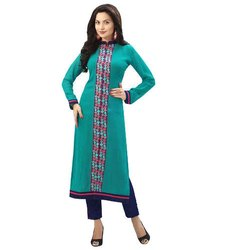 Ladies Full Sleeve Green Kurti